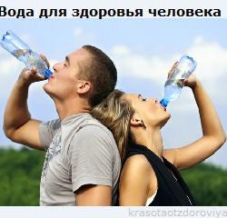 Вода для здоровья человека